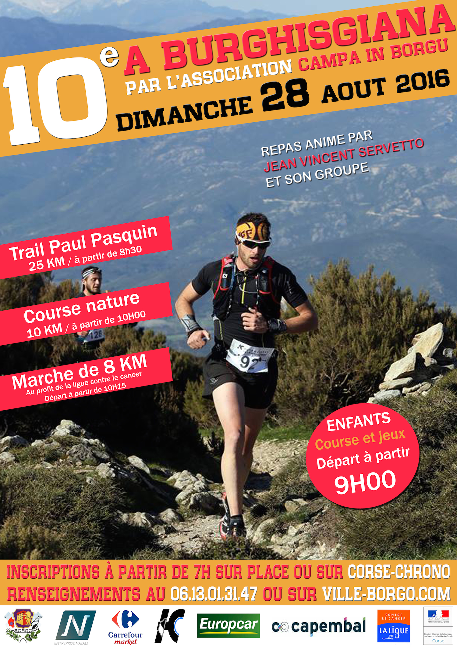 10ième édition de la Course A Burghisgiana le Dimanche