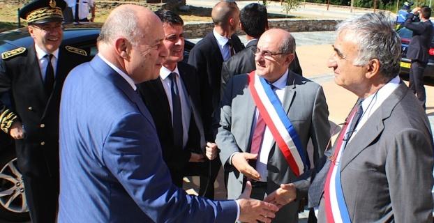 Jean-Michel Baylet (à gauche) avec le Premier ministre le 4 Juillet dernier à Erbalonga
