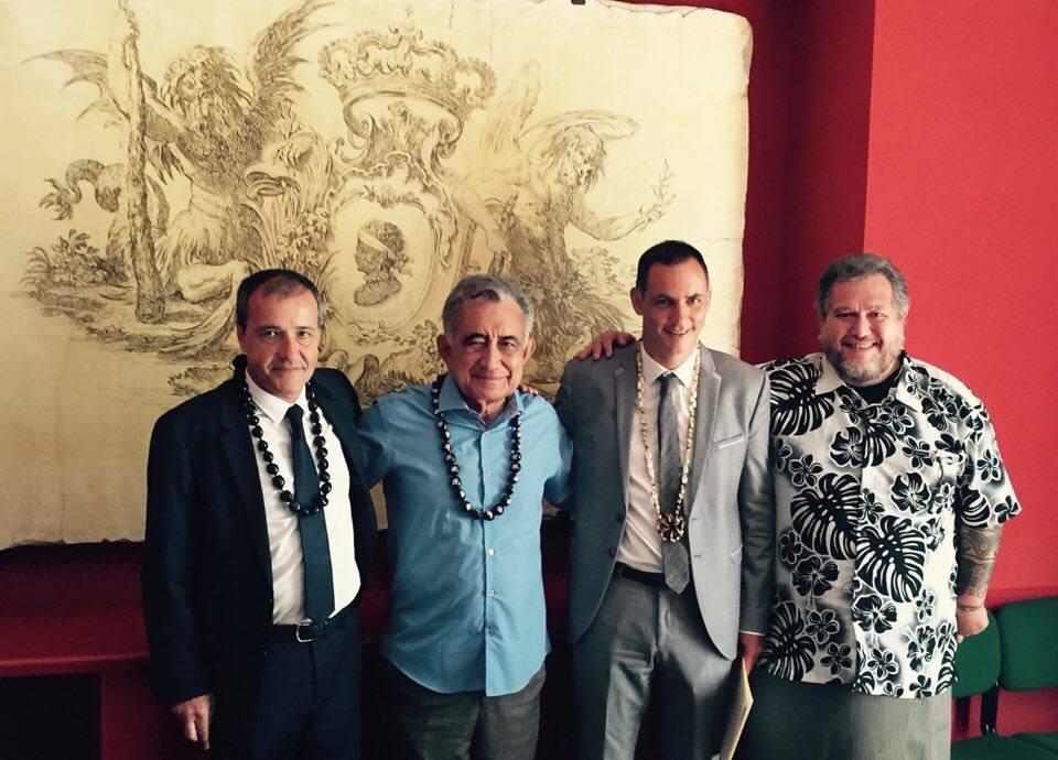 Les indépendantistes polynésiens reçus en Corse, avant de partir en campagne pour la présidentielle