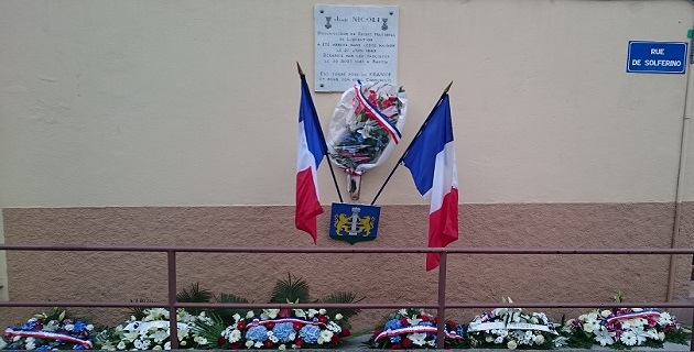 Ajaccio a rendu hommage à Jean Nicoli rue Solferino