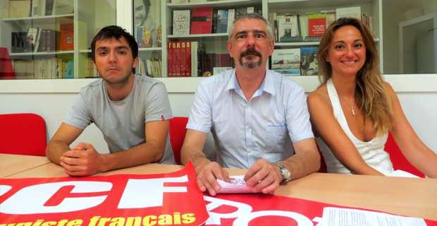 Le binôme de la majorité municipale, Pascal Rossi /Marina Luciani, avec à leurs côtés, un de leurs suppléants, Marc-Alexandre Moracchini.