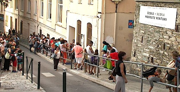La rentrée scolaire à Bastia : Rapprochement entre les écoles Venturi et Gaudin