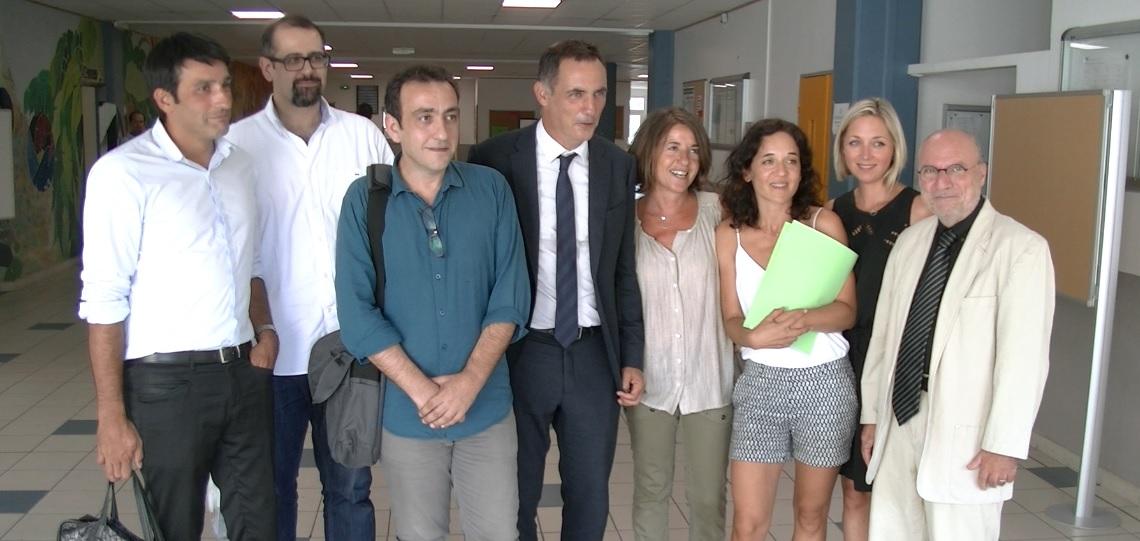 Bastia : Retour aux sources pour Gilles Simeoni au lycée Giocante