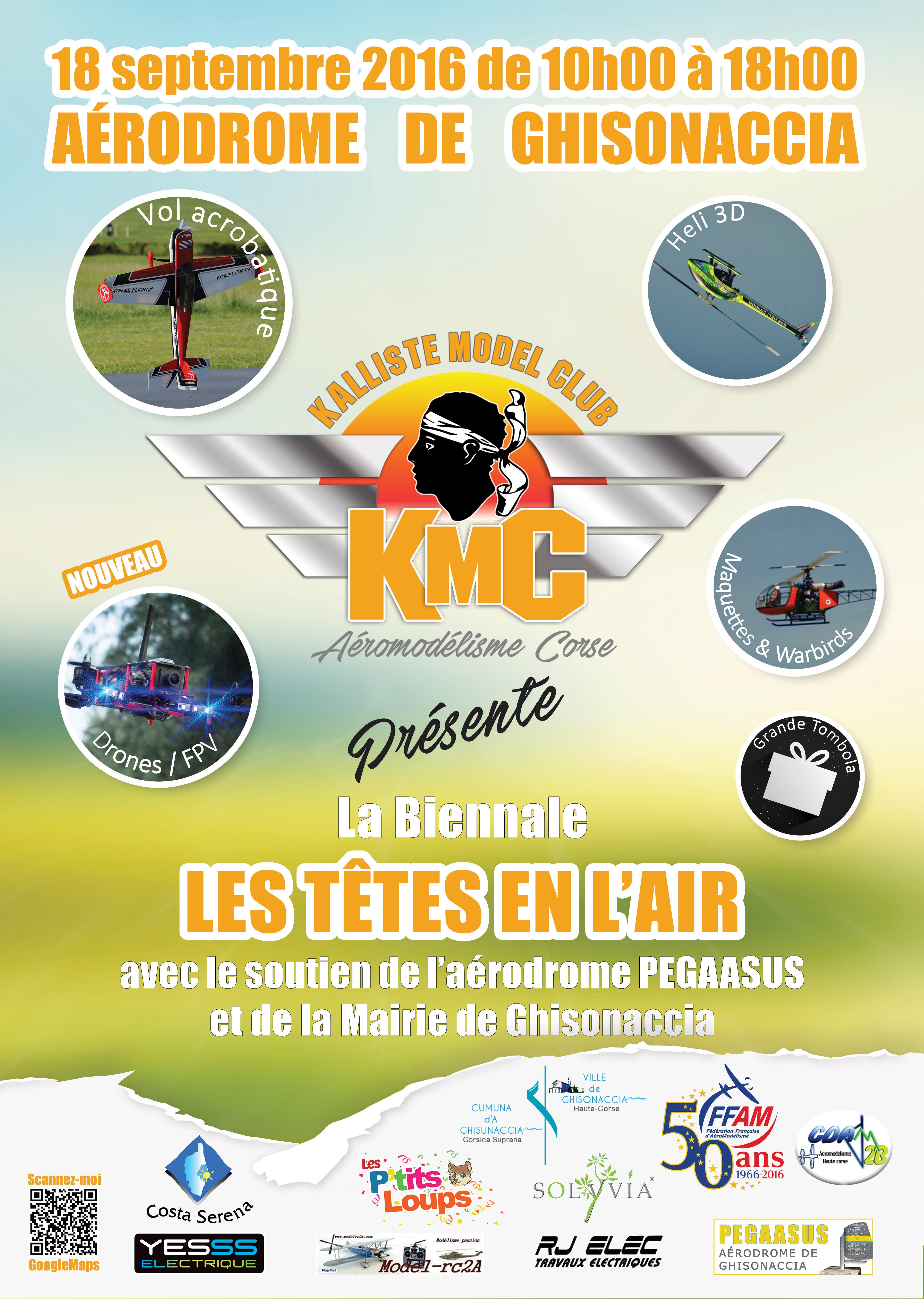 """Ghisonaccia : Troisième meeting d'aéromodélisme """"Les têtes en l'air"""" le 18 septembre 2016"""
