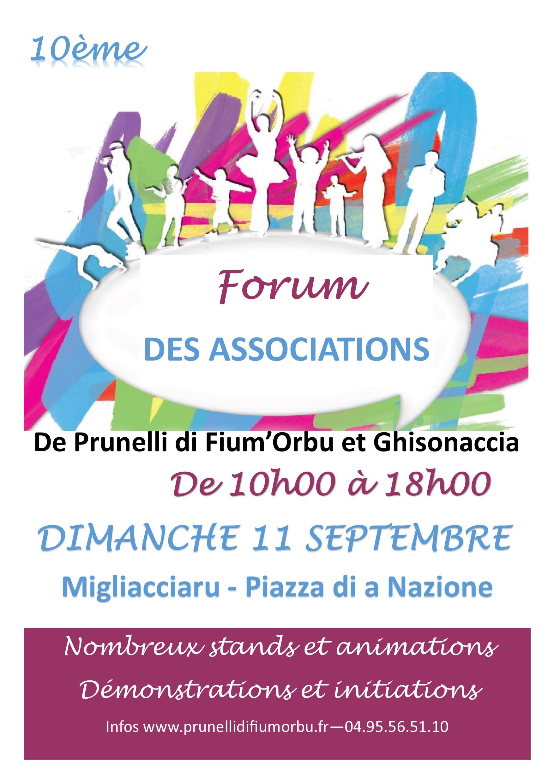 10 ème forum des associations de Ghisonaccia et Prunelli dimanche à Migliacciaru