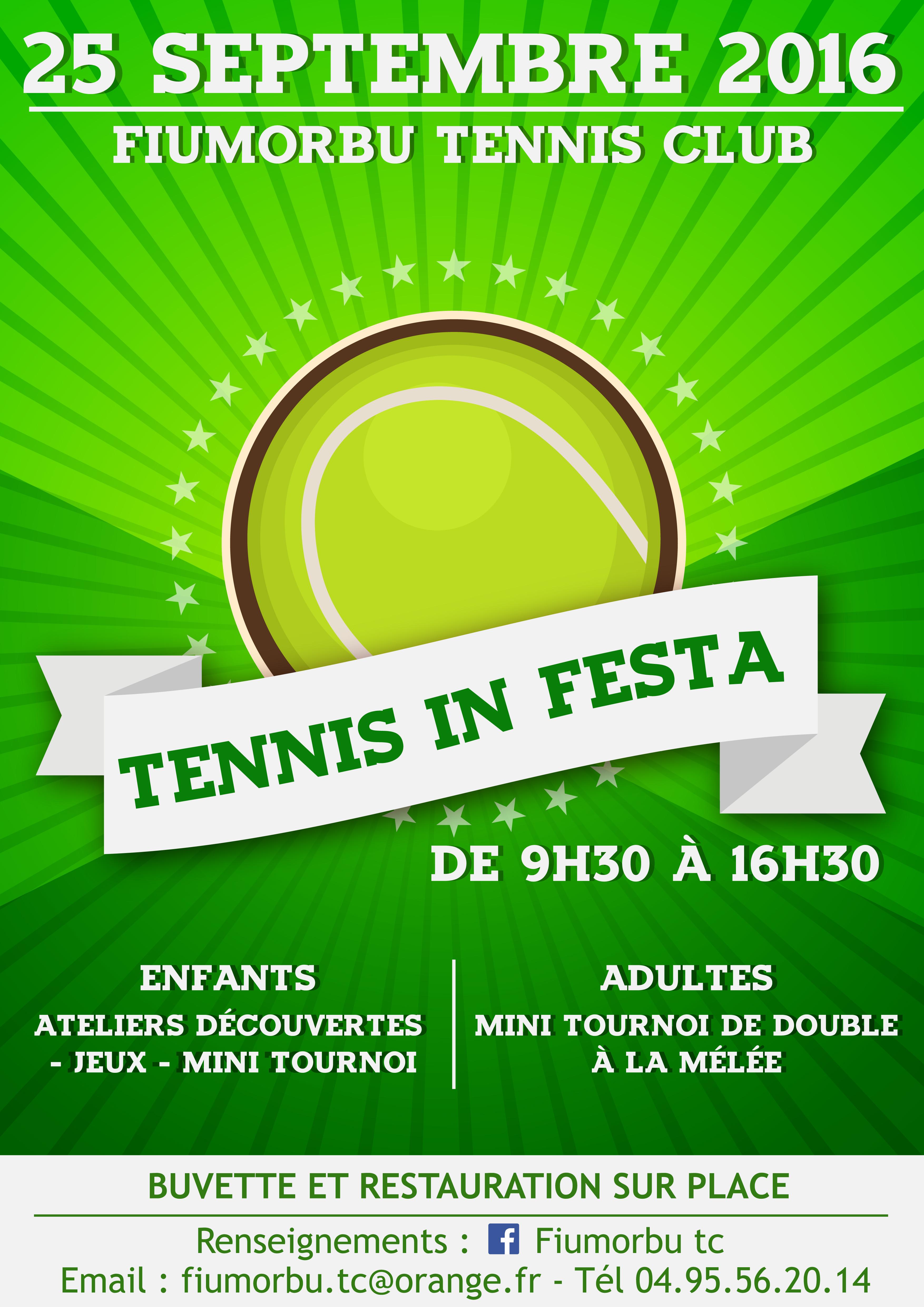 Tennis in festa , le tennis pour tous.