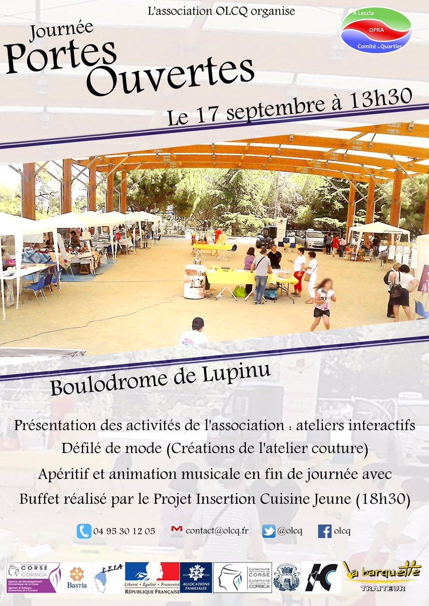 """Opra a Leccia Comité de Quartier  : Journée """"Portes Ouvertes"""" au boulodrome de Lupinu"""