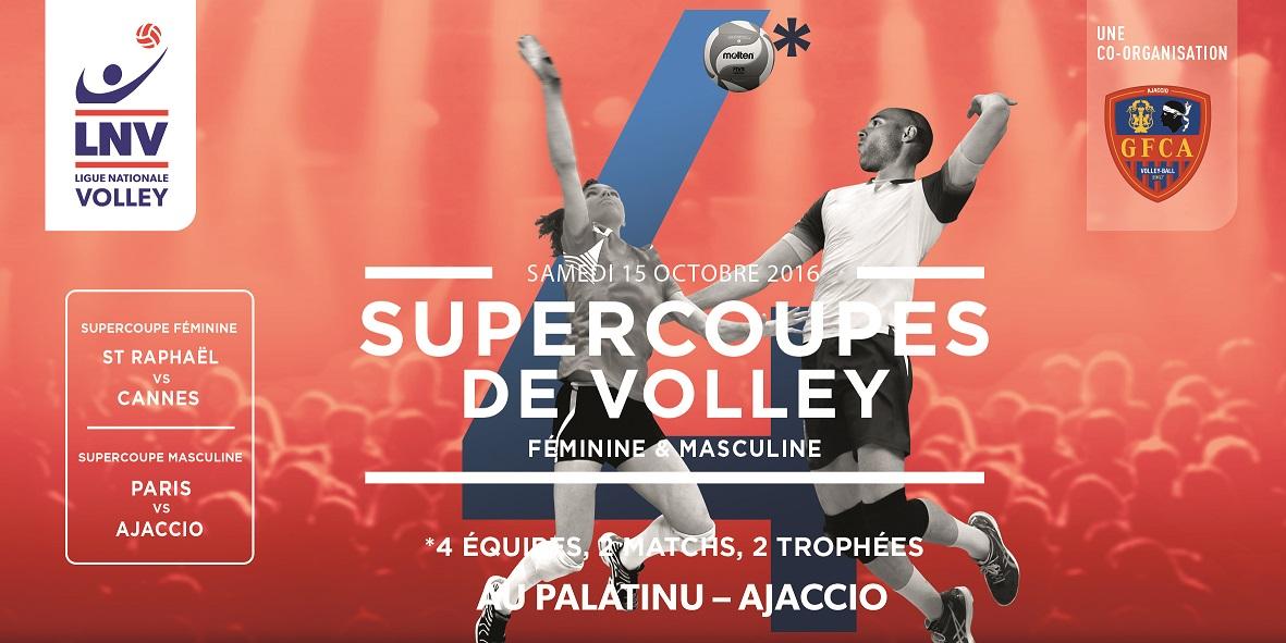Les Supercoupes de Volley à Ajaccio le 15 Octobre