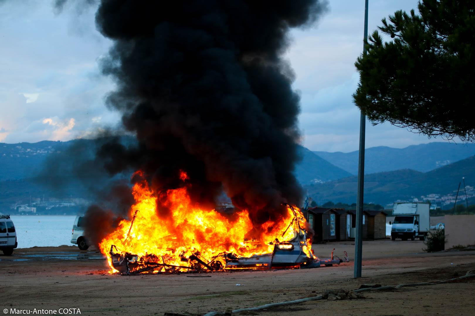 Porticcio : Une caravane totalement détruite par un incendie