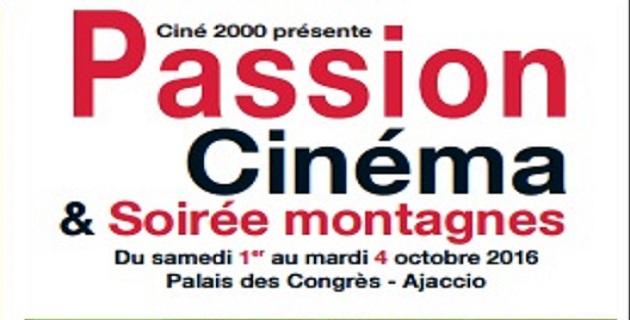 """Festival """"Passion cinéma"""" et """"Soirée montagnes"""" du 1er au 4 octobre à Ajaccio"""