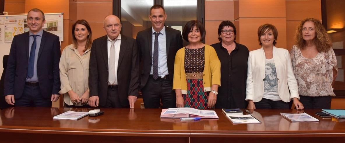 Signature de la Convention de partenariat entre la C.T.C. et la municipalité de Sartène.