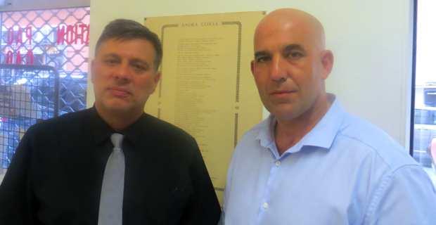 Christophe Canioni, conseiller territorial FN, suppléant de Michel Bruschini, candidat à l'élection départementale partielle du canton de Bastia III.