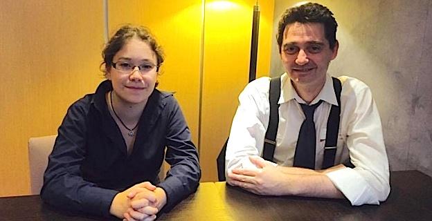 Audrey Gautier, secrétaire générale internationale de l'O.N.G. C.N.R.J., et Frédéric Fappani von Lothringen, Président.