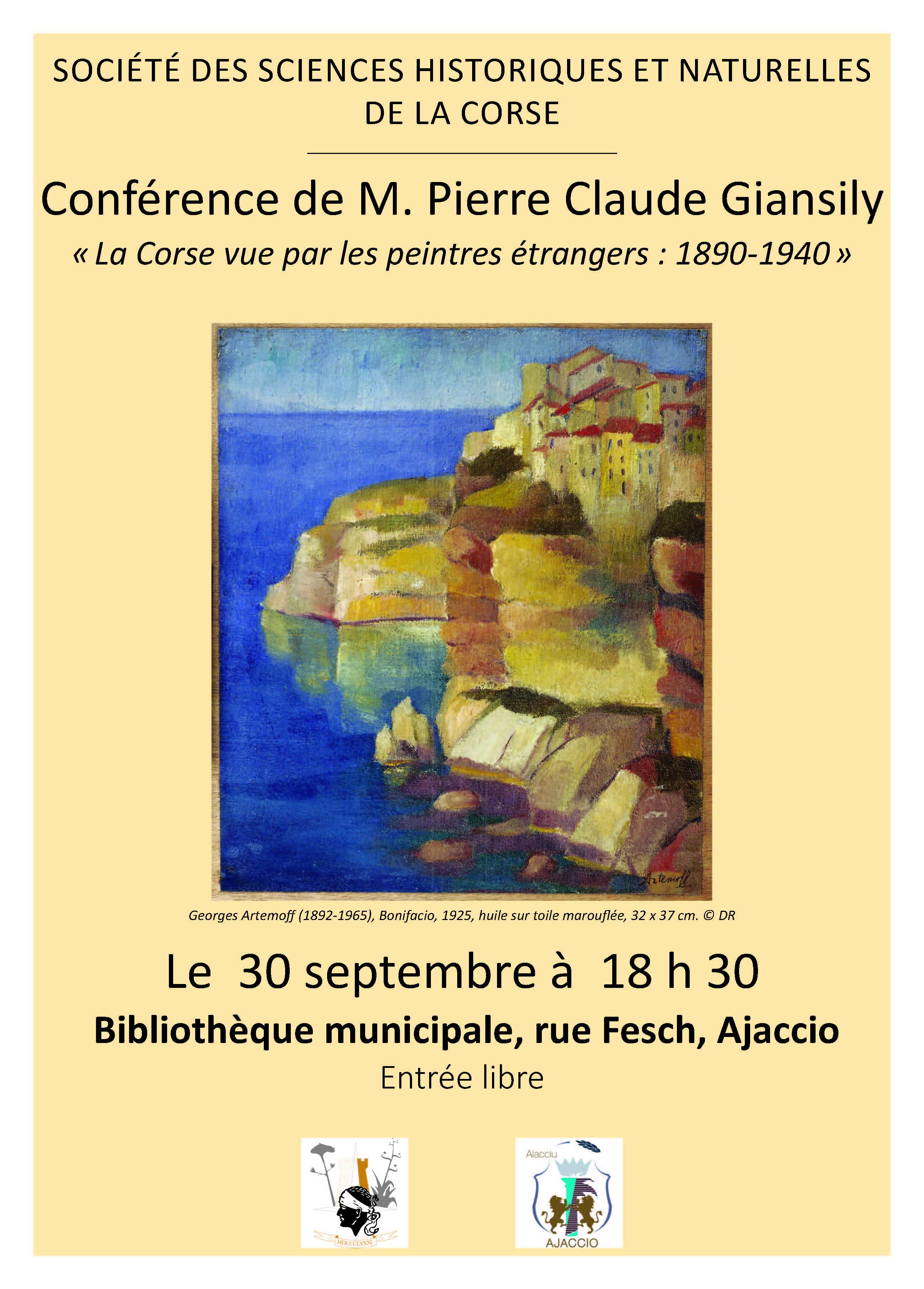 """Ajaccio : """"La Corse vue par les peintres étrangers : 1890-1940"""""""