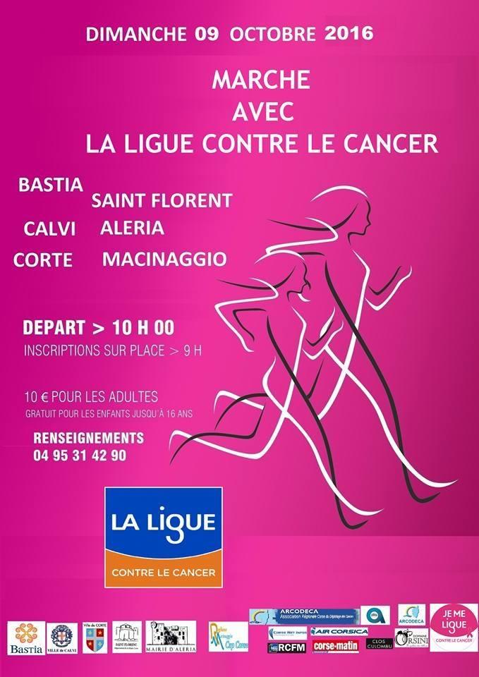Marche contre contre le cancer le 9 octobre à Calvi