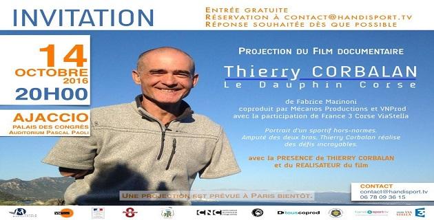 Thierry Corbalan raconté dans un  film documentaire de Fabrice Marinoni