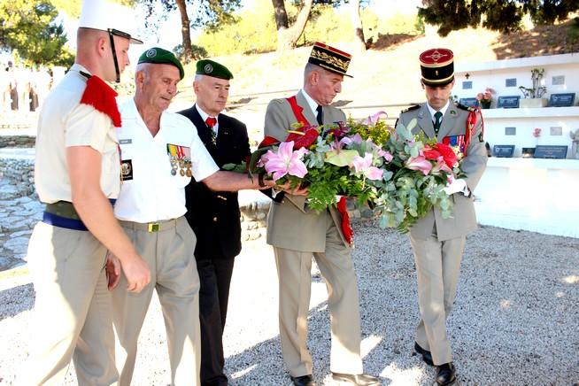 Cérémonie au carré militaire de Calvi en présence du général Puga