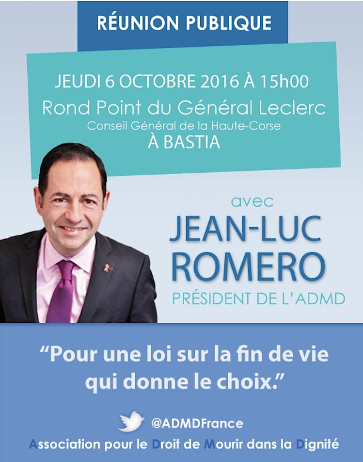 """Jean-Luc Romero à Bastia et Ajaccio : """"Pour une loi sur la fin de vie qui donne le choix"""""""
