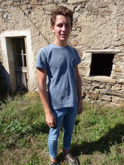 Gauthier Vaillat élève de troisième année.