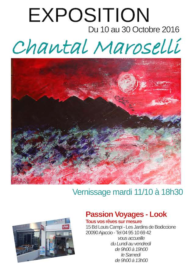 Ajaccio : Chantal Maroselli expose à Passion Voyages