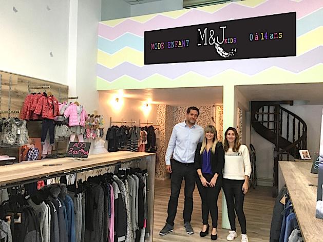 La boutique M&J Kids a pu voir le jour grâce au microcrédit de l'ADIE