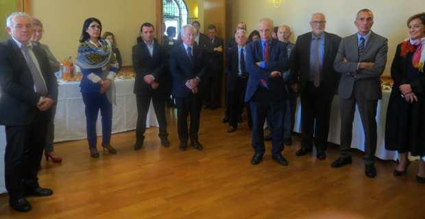 Jean-Marc Sauvé s'exprime devant les élus et les représentants des institutions.