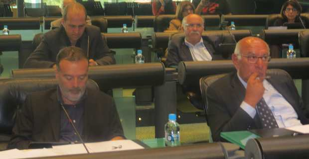 Jean-Marie Vecchioni, Pierre-Marie Mancini et Francis Guidici, auteurs de la motion de soutien aux jeunes agriculteurs.