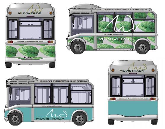 Muviverde, nouveaux transports 100% électrique, et muvistrada, nouveaux bus du bassin ajaccien.