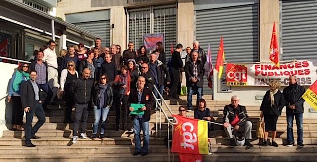 Finances publiques : Les syndicats disent «non aux restructurations» en Corse