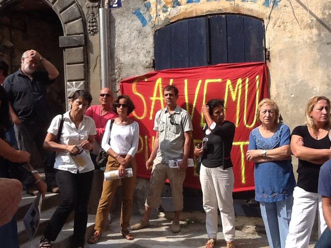 La mobilisation des militants d'Inseme per Bastia et des habitants.