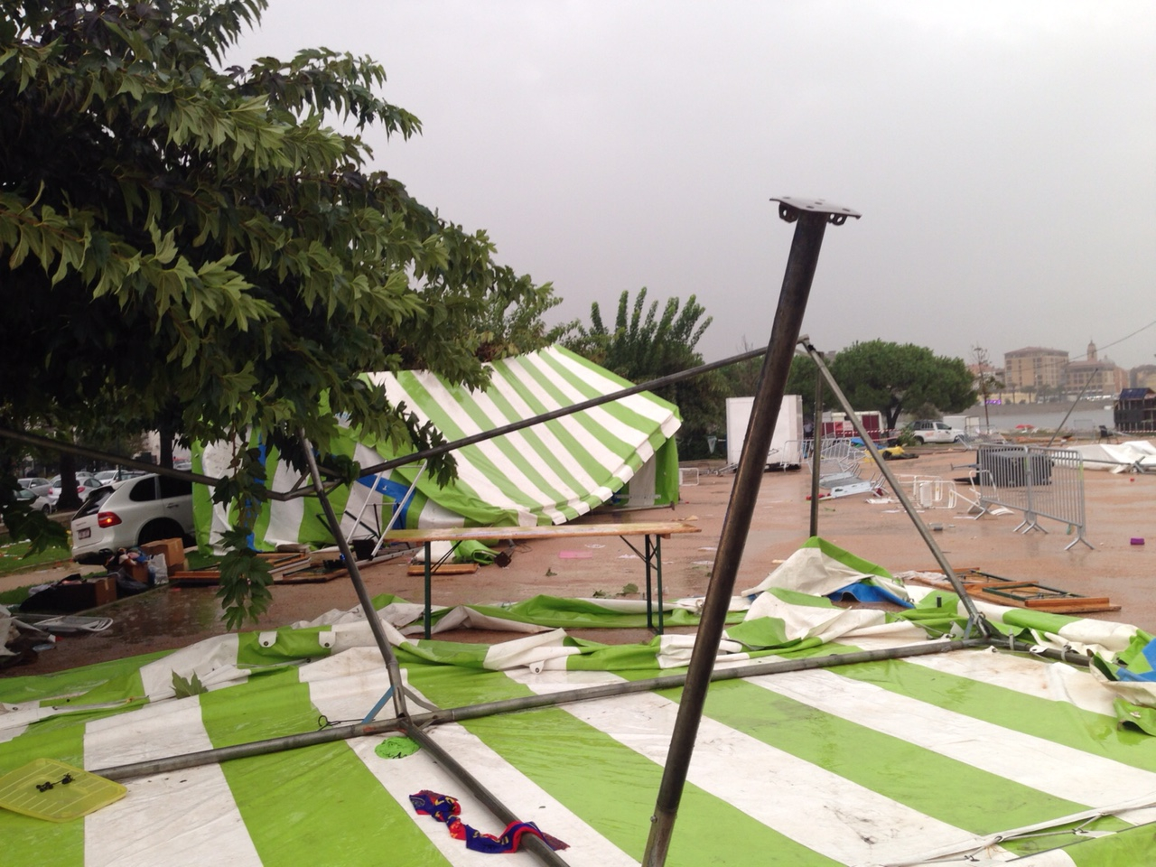 Ajaccio : Les structures d'accueil de La Marie Do emportées. 4 blessés