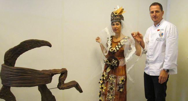 Guy Roux, le maître chocolatier présentera une sculpture et une robe haute couture le tout en chocolat bien sûr