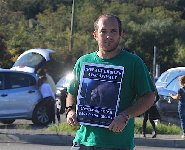 Bastia : Une manifestation anti-cirque avec animaux sauvages