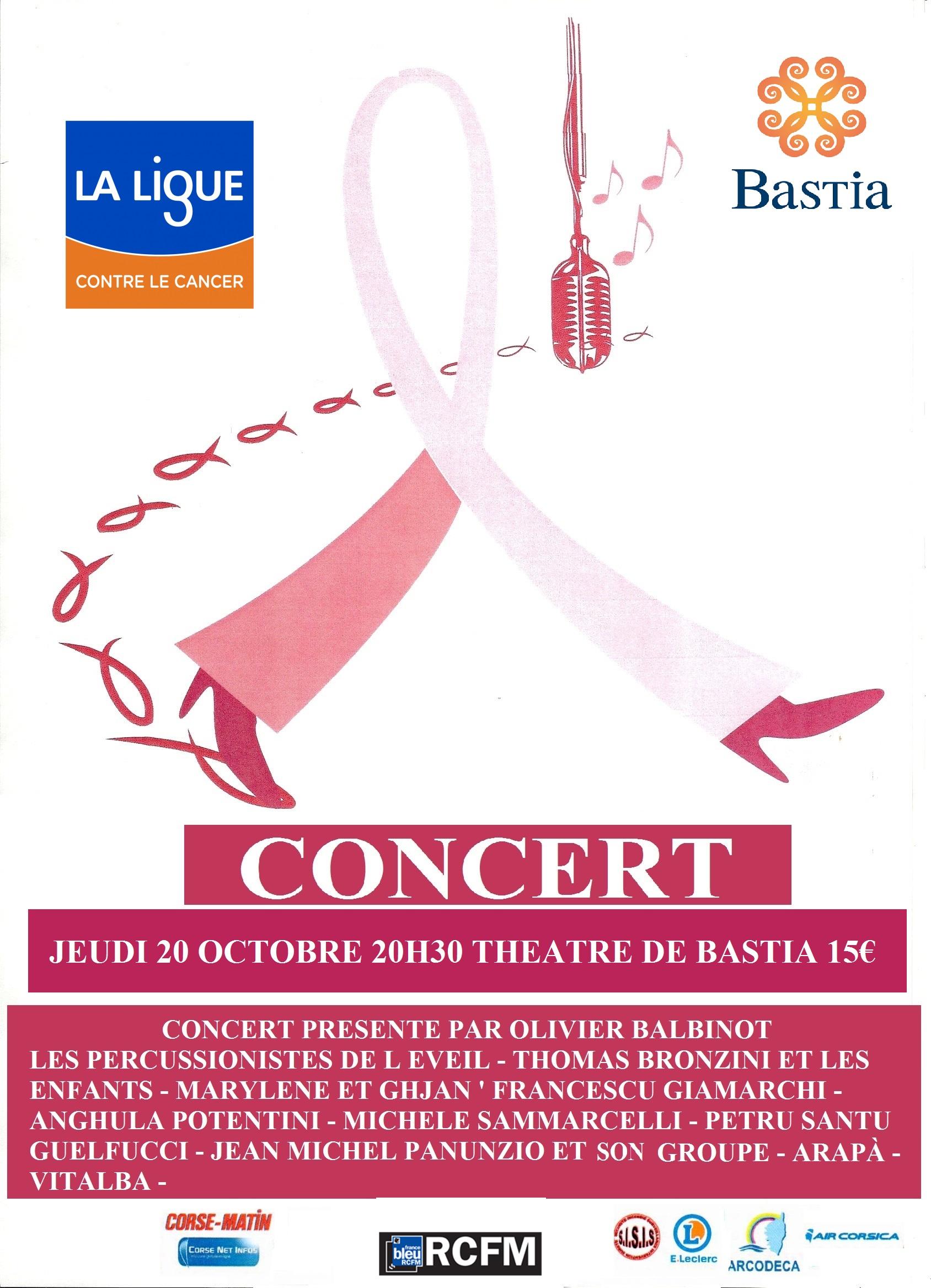 Bastia : Les artistes corses s'engagent contre le cancer