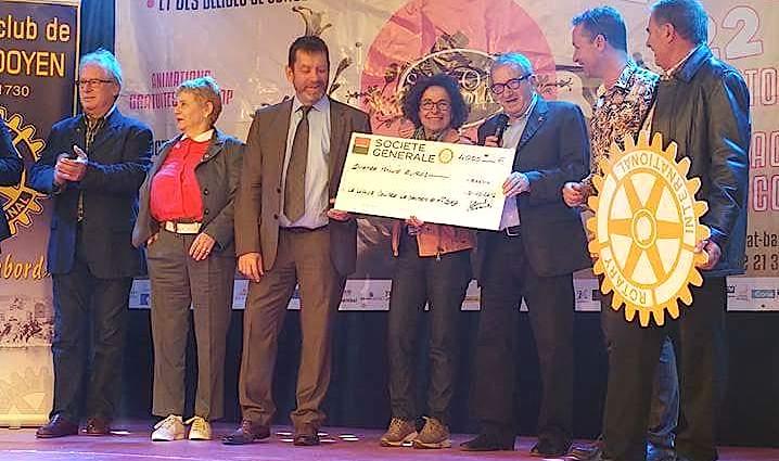 Rotary club de Bastia-Doyen : Un chèque de 4 000 € pour la ligue contre le cancer