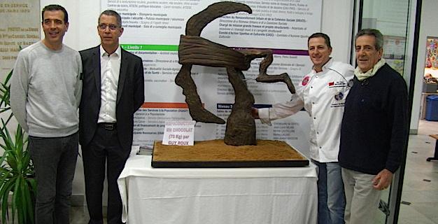 Une tête de Maure en chocolat pour la mairie de Bastia