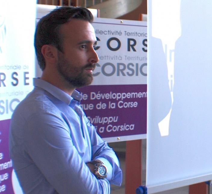 Julien Angelini, Responsable de la communication digitale à la mairie de Bastia.