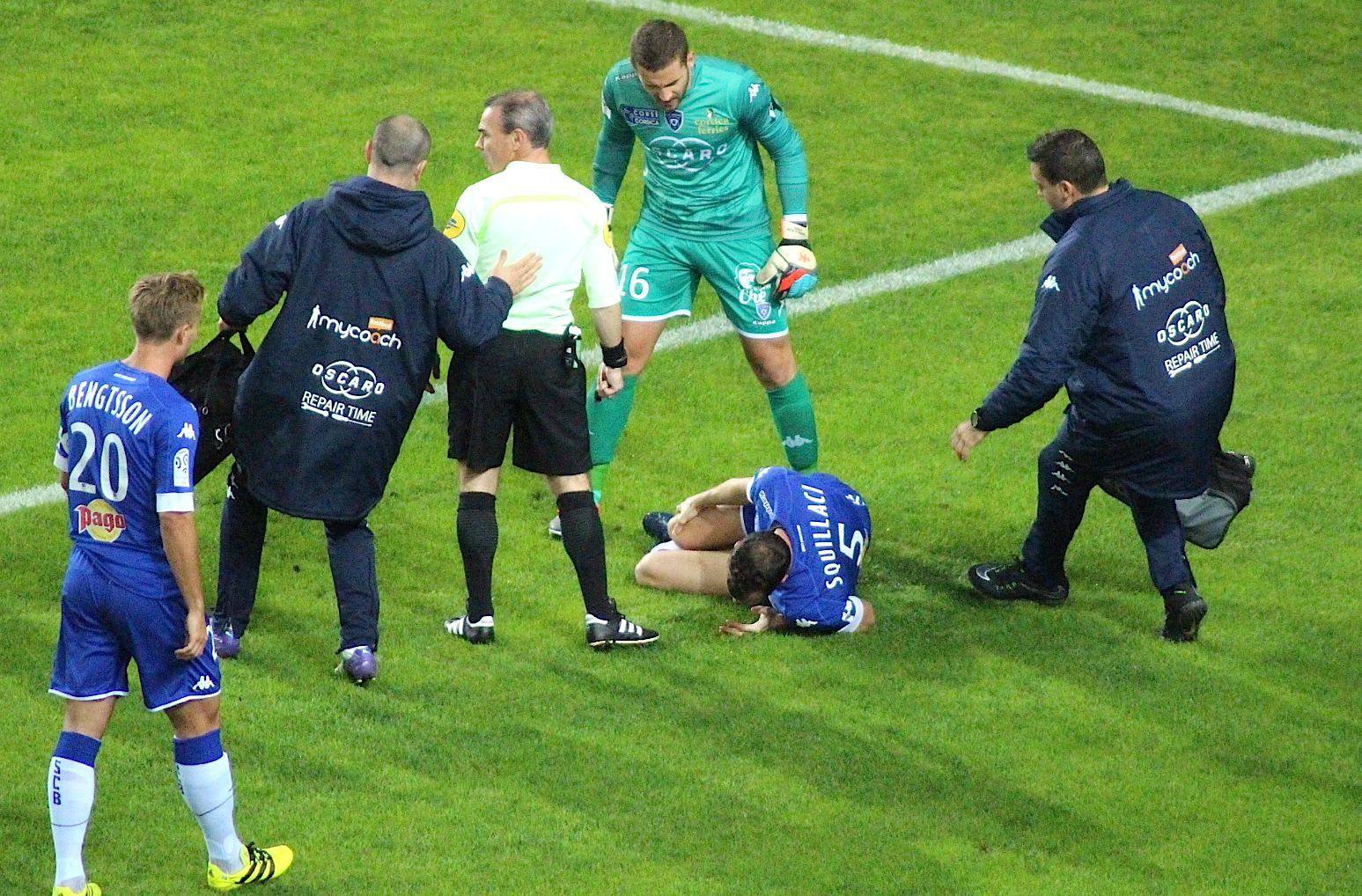 Sébastien Squillaci : Rupture des ligaments croisés antérieurs droits !