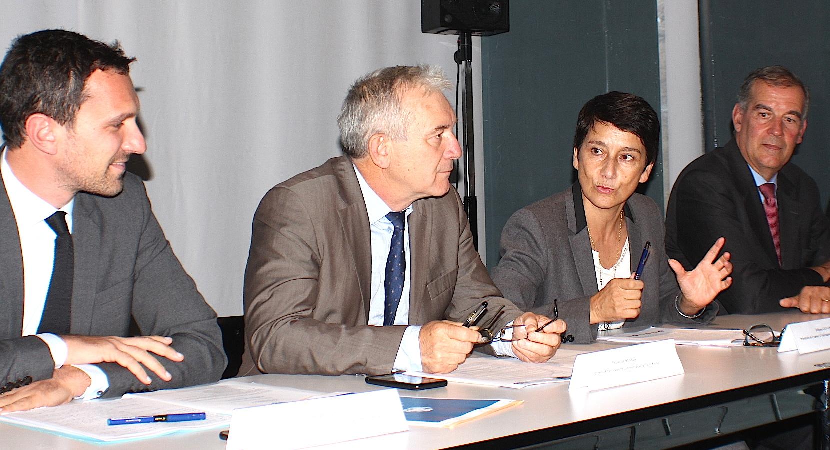 Julien Morganti, François Orlandi, Fabiana Giovannini et Benoît Bonnefoi
