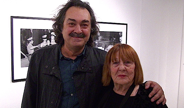 Marcel Fortini, directeur du Centre Méditerranéen de la photo et Letizia Battaglia