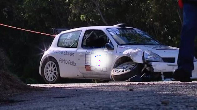 La voiture après l'accident