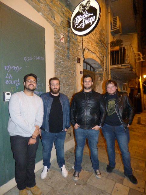 De gauche à droite, Guillaume, Jeremy, Jean baptiste et Alexandre les quatre mousquetaires du groupe Black Poison.