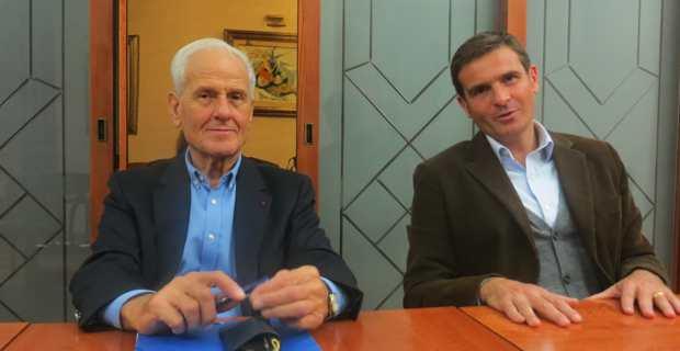 Jean Baggioni, animateur et coordinateur du Comité régional Cap Alain Juppé pour la France en Corse, et Jean Martin Mondoloni, conseiller territorial.