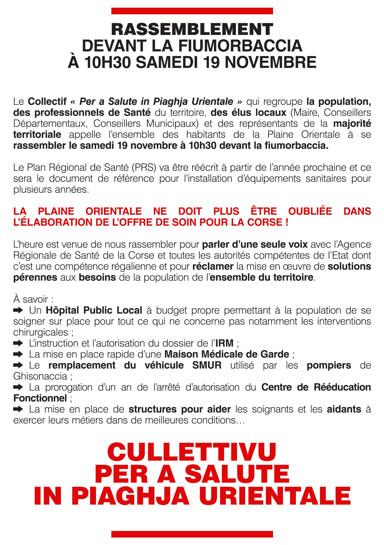 Ce tract a été distribué aux automobilistes ce jeudi soir entre Ghisonaccia et Prunelli di Fium'Orbu