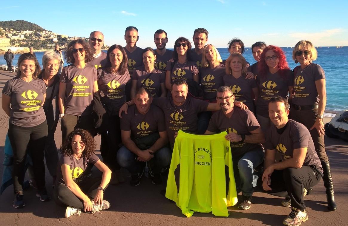 Lucciana Atletismu et le CAA au marathon Nice-Cannes