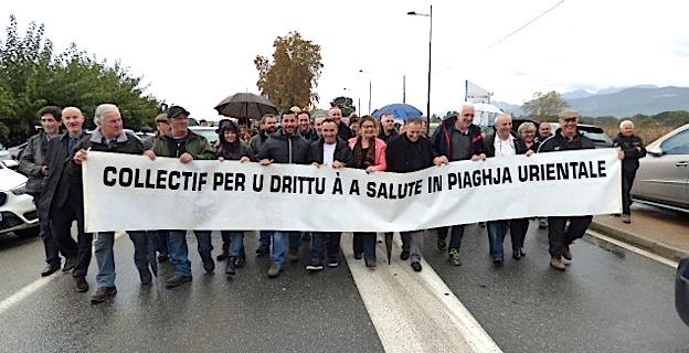 Les manifestants ont marché jusqu'au pont du Fium'Orbu.