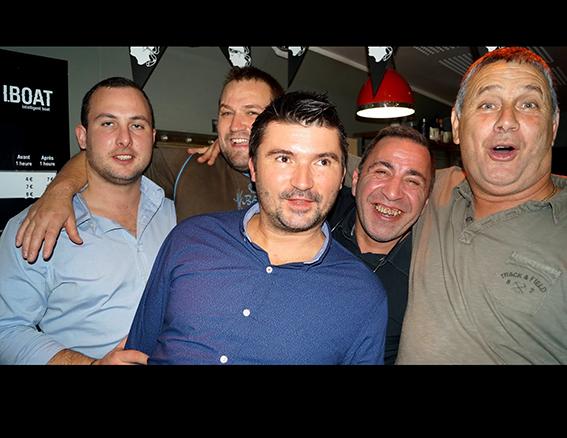 Julien Pandolfi (au centre) à l'origine de cette setimana corsa à Bordeaux