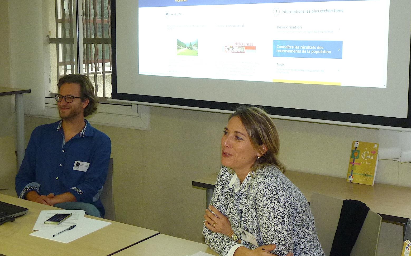Ajaccio : L'INSEE a présenté son nouveau site internet