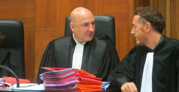 Le procureur Nicolas Bessone et Me Antoine Meridjen, avocat du Conseil départemental 2B.
