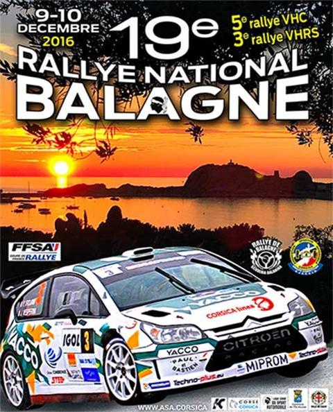 Le Rallye automobile de Balagne les 9 et 10 décembre